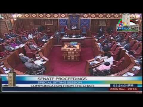 Senate special sitting: Committee on legal affairs taking public views on elections law