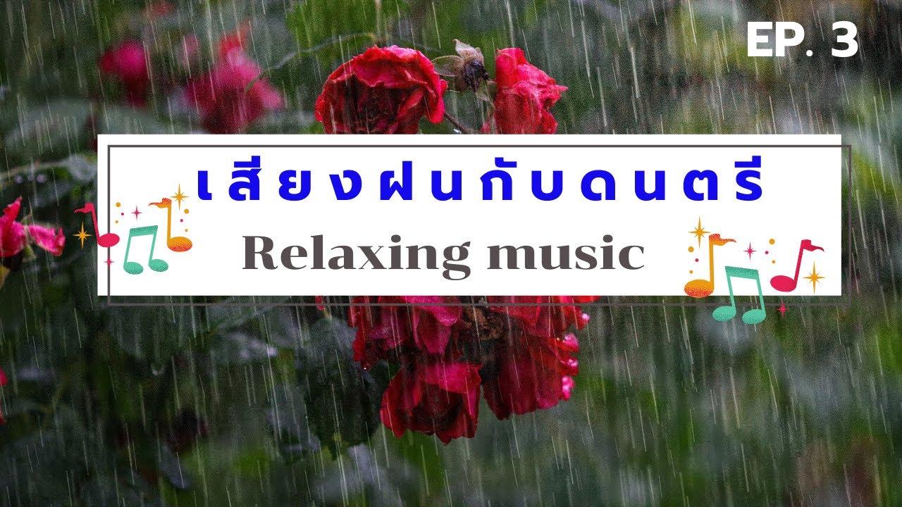 เสียงฝนตกกับดนตรี Relaxing music ผ่อนคลาย อารมณ์ดี Ep.3 |คลายเครียด บำบัดอารมณ์ Emotional relaxation