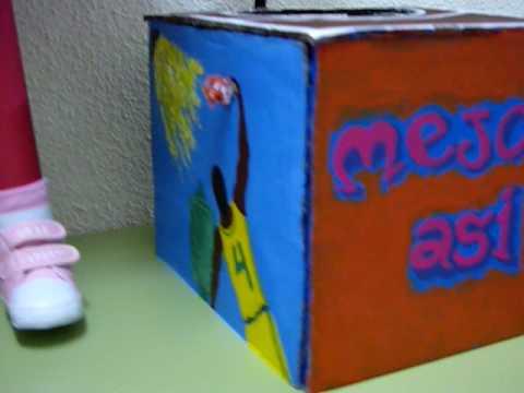 Exposici n de cajas decoradas 1 concurso limpiar y - Cajas grandes de carton decoradas ...