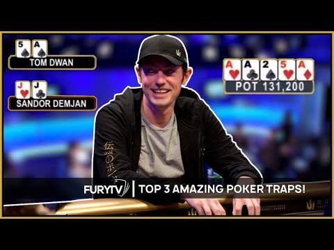 TOP 3 MOST AMAZING POKER TRAPS EVER!