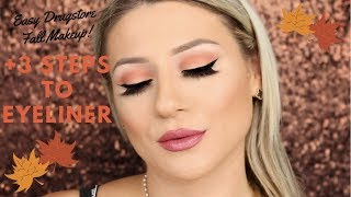 EASY DRUGSTORE FALL MAKEUP &3 STEPS TO EYELINER || GIO DREVELI ||