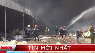 Cơ sở tái chế phế liệu chìm trong biển lửa