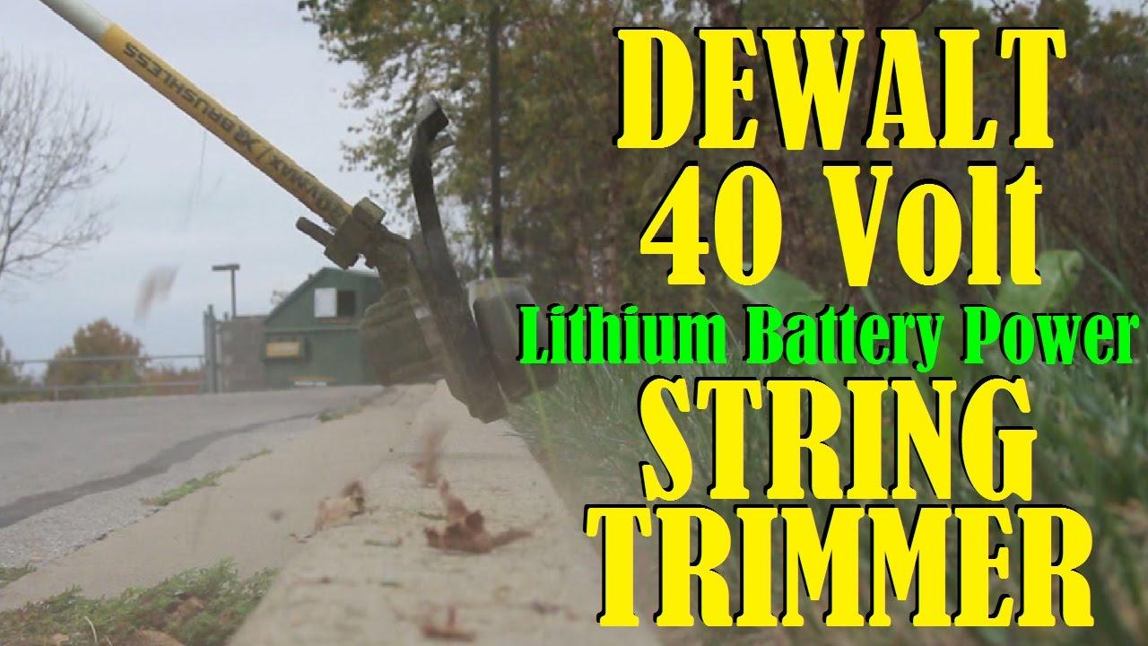Dewalt 40 Volt Battery Powered String Trimmer Vlog 34 with BB