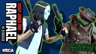 NECA Teenage Mutant Ninja Turtles Casey Jones & Raphael in Disguise 2 Pack | Video Review