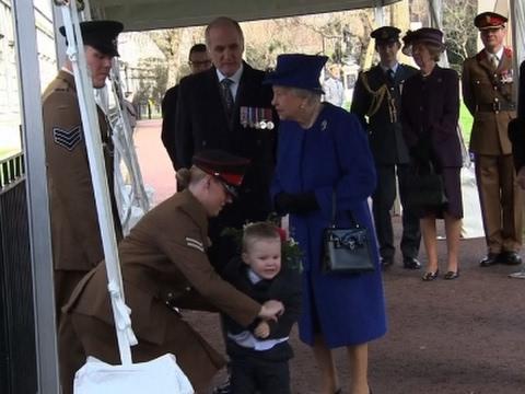 Toddler Has Meltdown in Front of Queen