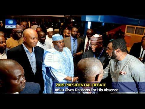 Debate: Atiku Gives Reason For Absence, Challenges Buhari 19/01/19 Pt.1 |News@10|