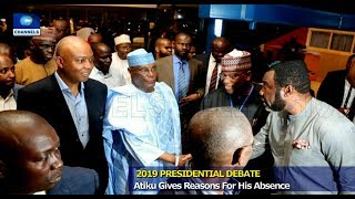 Debate: Atiku Gives Reason For Absence, Challenges Buhari 19/01/19 Pt.1 |News@10|