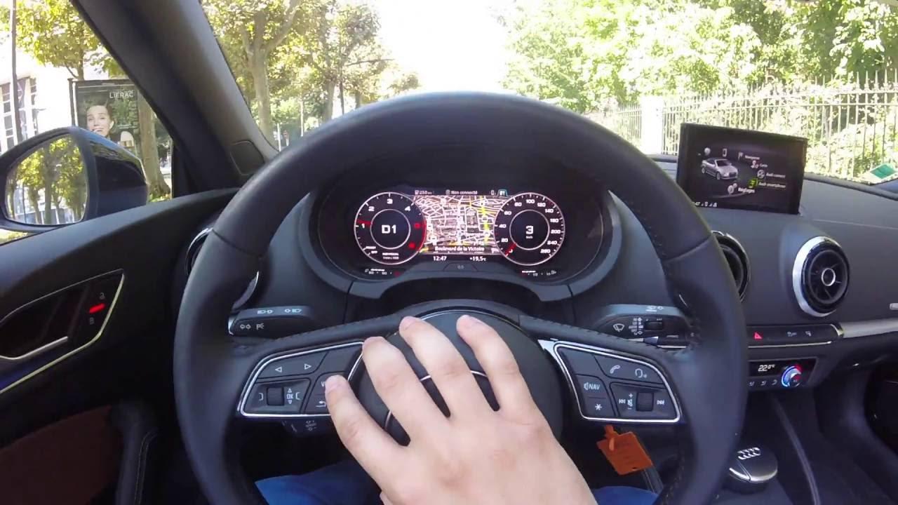 pov a3 150ch 2016 virtual cockpit cabriolet - youtube