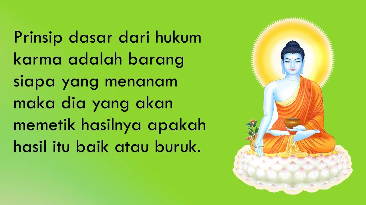 Kata Bijak Buddha Tentang Karma Katapos