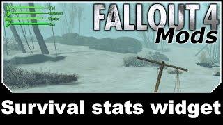 Fallout 4 Mods - Survival stats widget