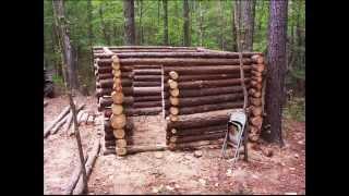Small Log Cabin Construction