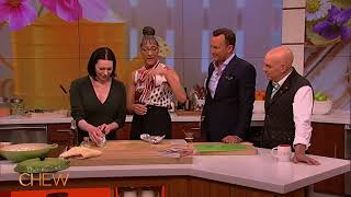 Laura Prepon Makes Poached Halibut | The Chew