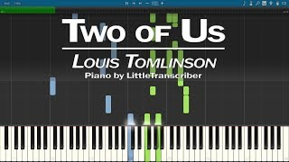 Louis Tomlinson - Two of Us (Piano Cover) Synthesia Tutorial by LittleTranscriber