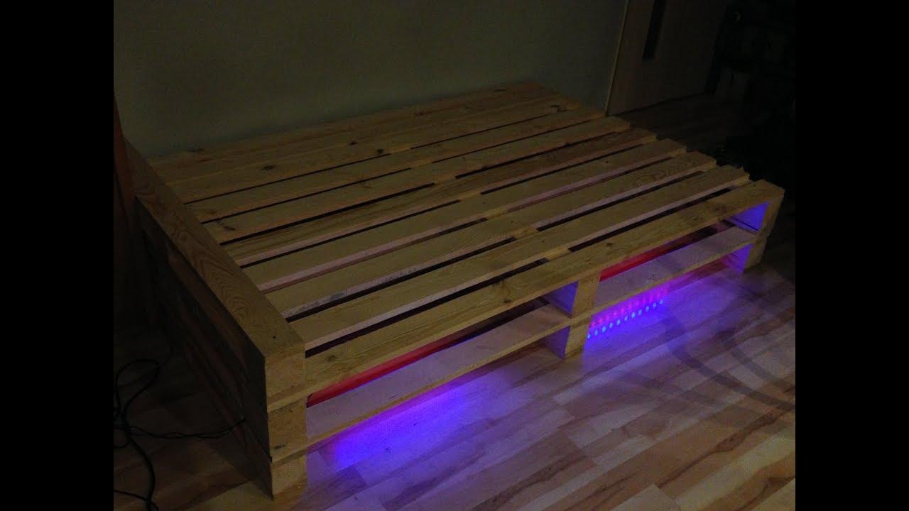 Jak Zrobić łóżko Z Drewna Na Wzór Palet Diy How To Make A Bed From Pallets
