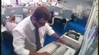 Man Loses Temper with Printer