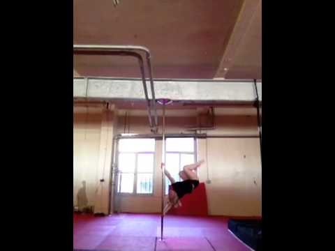 Elite pole fitness spins trick flips drop combos