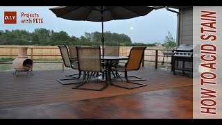 How To Acid Stain Concrete - Diy Acid Stained Concrete Patio