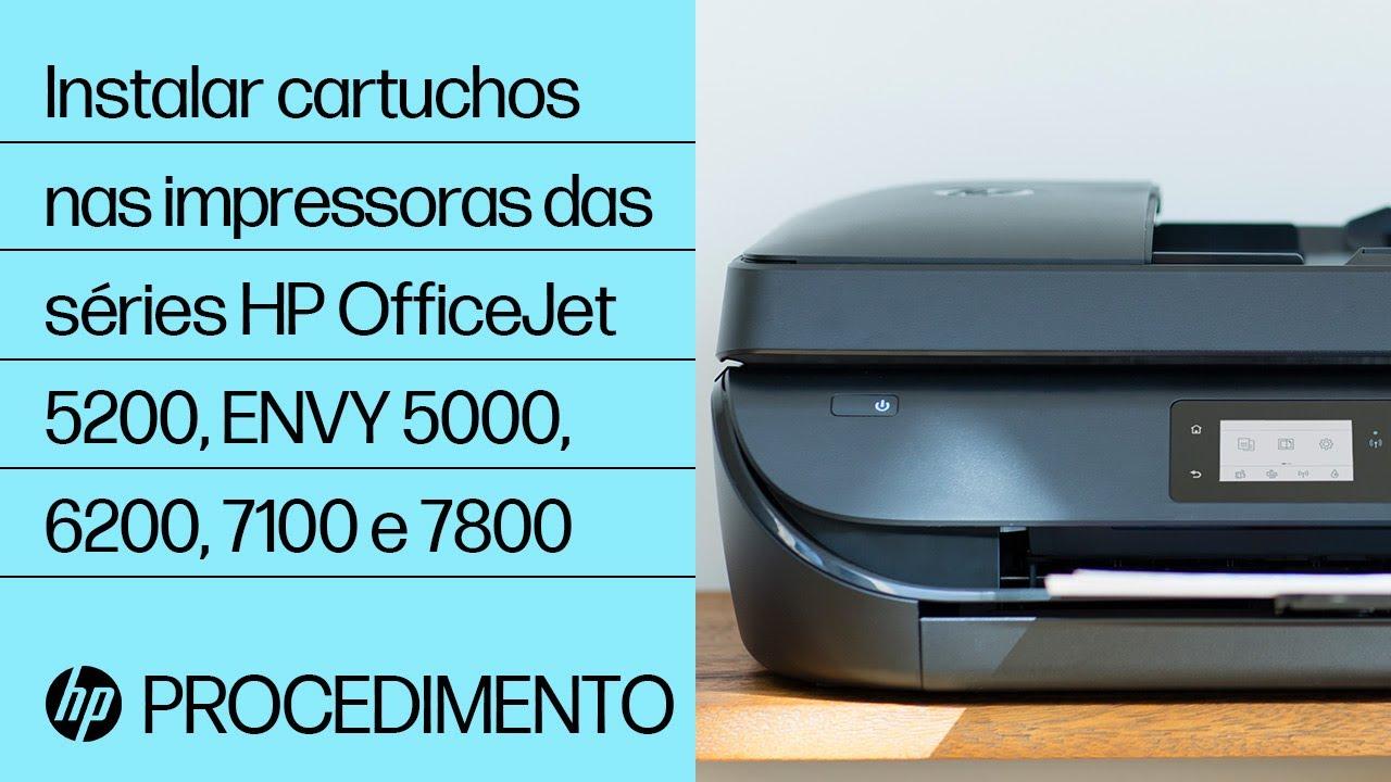 Desembalar E Configurar As Impressoras Das Séries Hp Officejet 5200 E Envy 5000 Hp Youtube