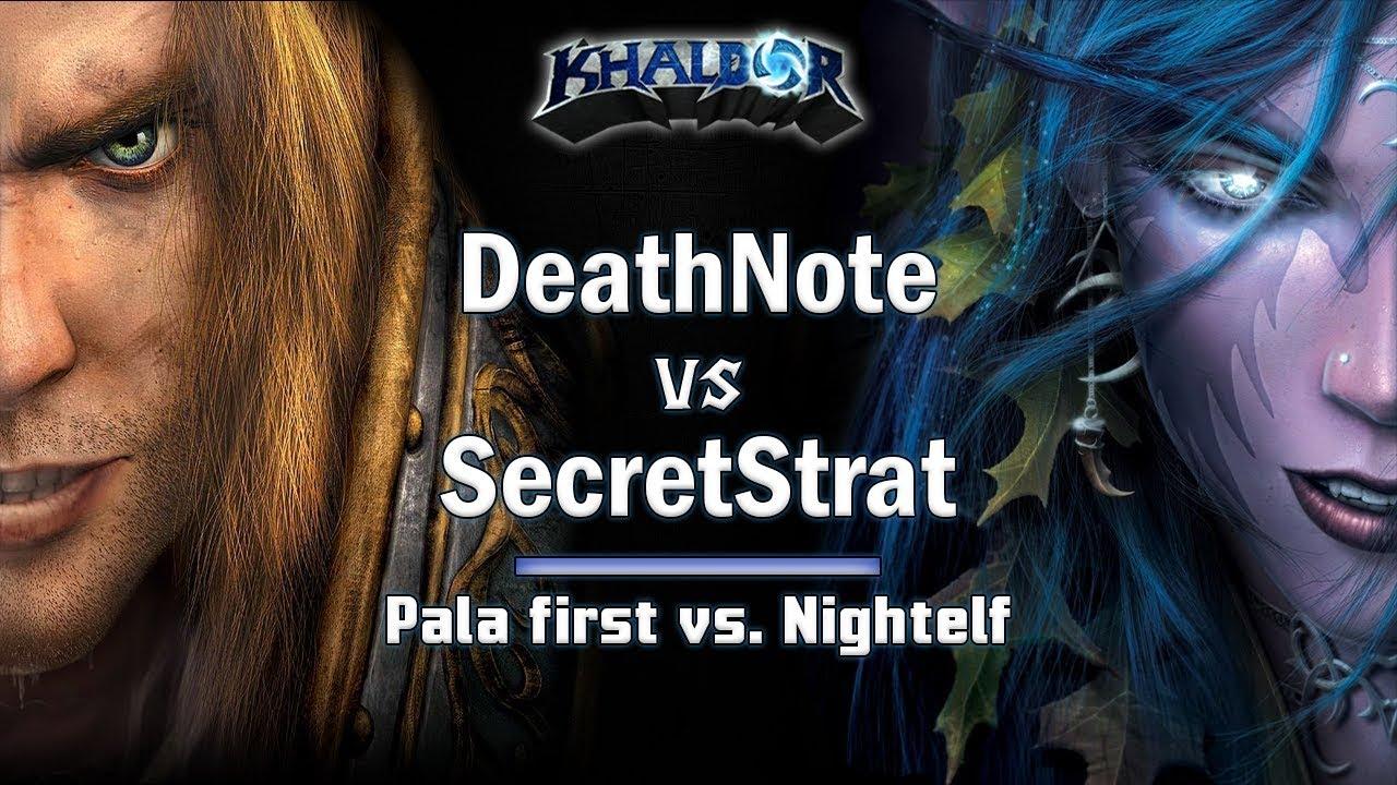 ► WarCraft 3 - Deathnote (Hu) vs. SecretStrat (NE) - Human vs. Nightelf