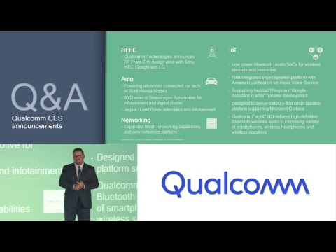 CES 2018 Press Conference: Qualcomm - Inventing the Path to 5G