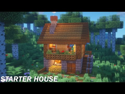 Minecraft Simple Starter House Tutorial | How To Build A Starter House In Minecraft
