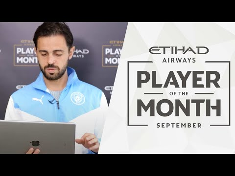 BERNARDO REACTS TO HIS HIGHLIGHTS! | Etihad Player of the Month | September 21/22