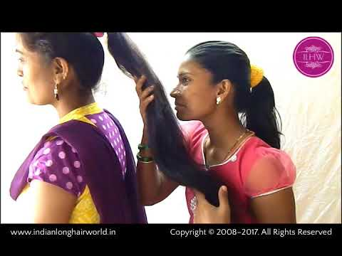 ILHW Rapunzel Sheela & Sultana's Sensual Ponytail Sniffing with Each Other's Long Hair