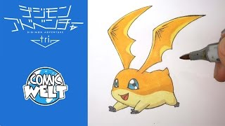 How to draw Patamon パタモン [Digimon Tri] drawing tutorial