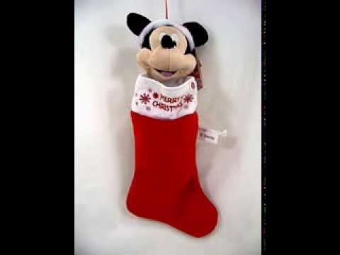 disney mickey mouse animated and musical plush christmas stocking - Mickey Mouse Christmas Stocking