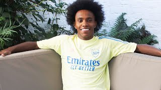 Willian on Martinelli and what David Luiz said to him before signing