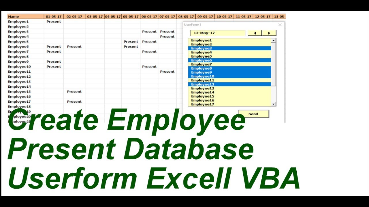 How Can Create Employee Attendance Data Base In Excel
