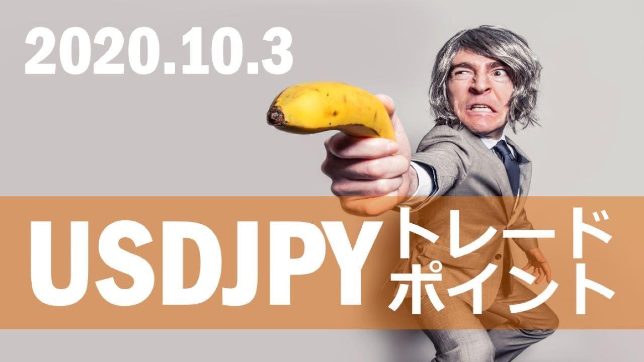 【FX:ドル円 2020.10.3】トレードポイント解説