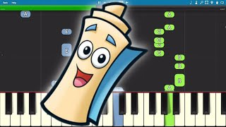 I'm The Map - Piano Tutorial (From Dora The Explorer)