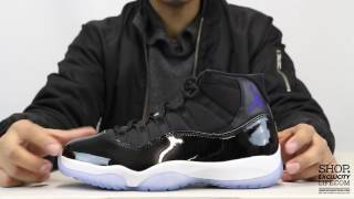 real vs fake jordan 11 space jam