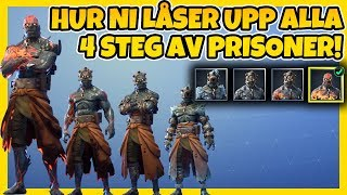 HOW TO UNLOCK * ALL 4 STEPS * BY PRISONER SKINNET | FORTNITE IN ENGLISH!