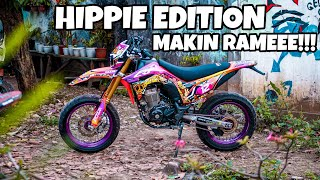 DECAL BARU CECE CRF 150 L SUPERMOTO HIPPIE EDITION