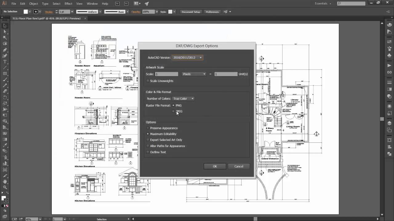 Converting PDFs to AutoCAD DWGs using Adobe Illustrator   YouTube