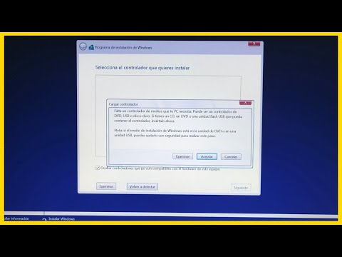 🤦♀️Falta un controlador de medios instalación Windows 10 no detecta disco