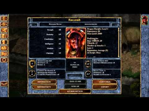 Baldurs Gate EE - Dragon Disciple SOLO NO RELOAD INSANE [Part 01]