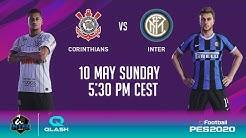 CORINTHIANS vs INTER on PES 2020 with INTER | QLASH (feat. KIRITO_YUUKI_00 + FMESTRE12) 🎮⚫🔵