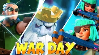 "CLUTCH WAR WIN!! ""Clash royale"" 2v2 Challenge FTW"
