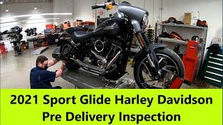 2021 Sport Glide Harley Davidson Pre Delivery Inspection