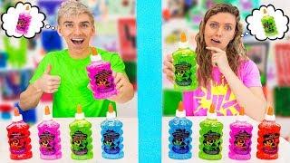 Twin Telepathy Slime Challenge! (Sis vs Bro WIN $10,000 Prize)