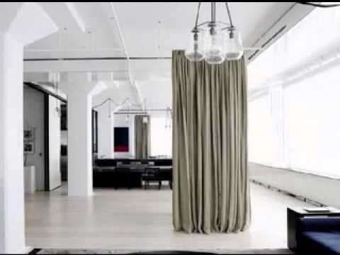 diy hanging room divider ideas - youtube