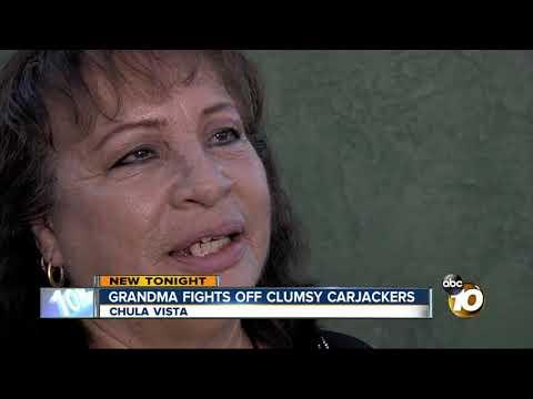 Grandma fights off clumsy carjackers in Chula Vista