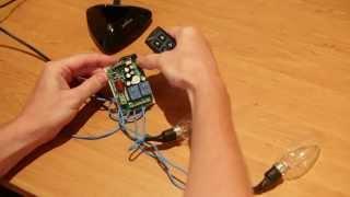 Налаштування (навчання) 2х канального радіореле. 433 мГц