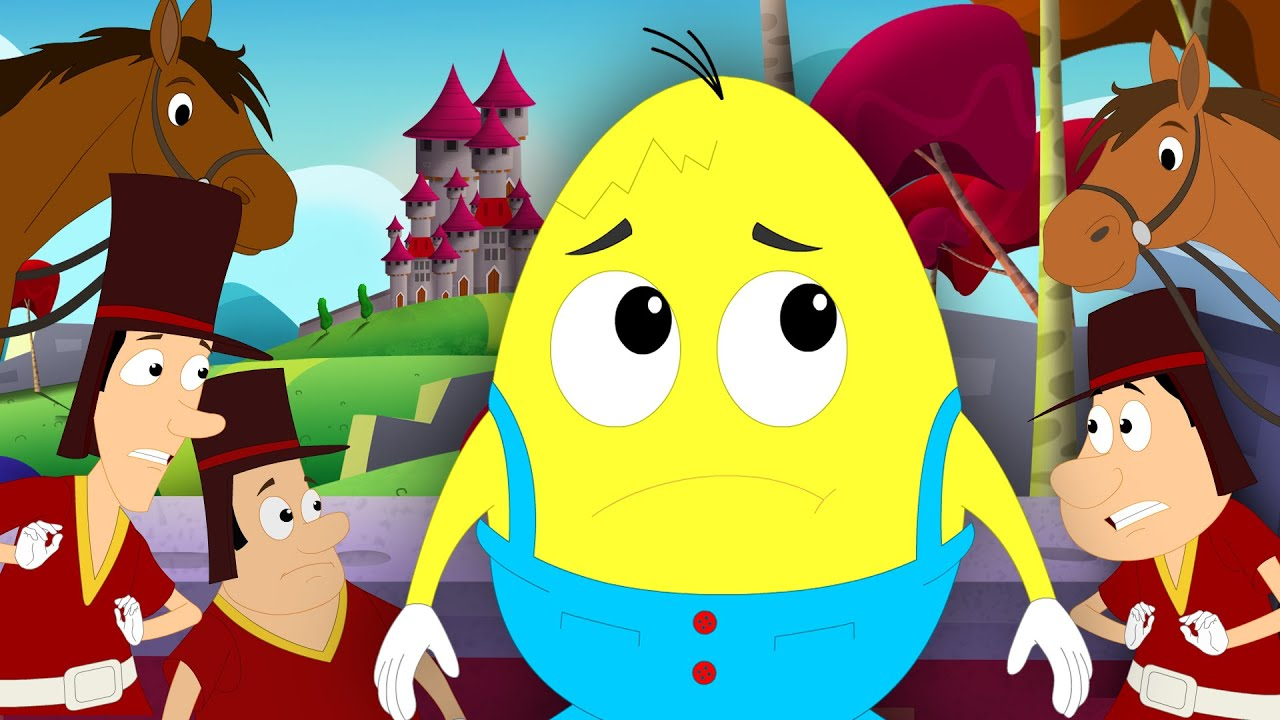 Humpty Dumpty Sat On A Wall | Nursery Rhymes For Children | Kids ...