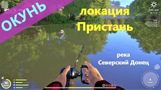 Русская рыбалка 4 река Северский Донец Окунь солнечный у пристани