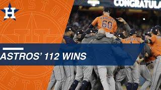 Astros win 112 in 2017 season including World Series
