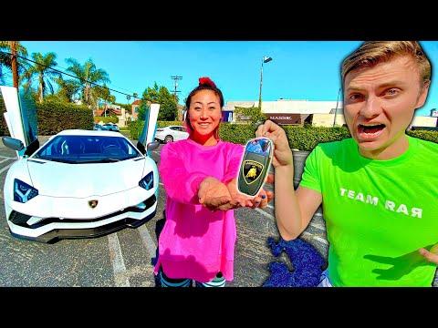 Teaching Ex Girlfriend to drive Lamborghini Aventador (Gone Wrong)